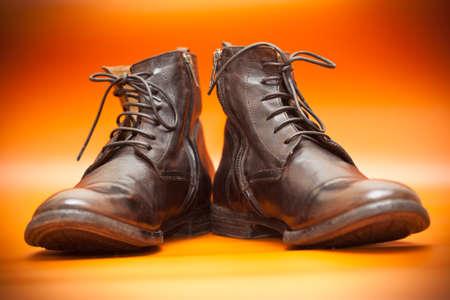 Mode Lederschuhe auf einem hellen Hintergrund Lizenzfreie Bilder