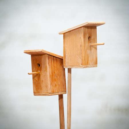 Wooden birdhouses photo