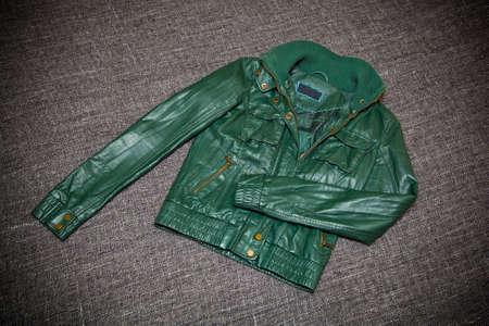 Fashionable leather jacket Stock Photo