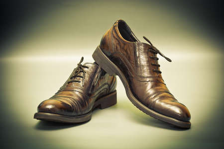Men classic leather shoes. Business class Stock Photo