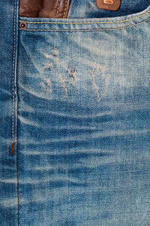 Texture jeans. pocket jeans Stock Photo