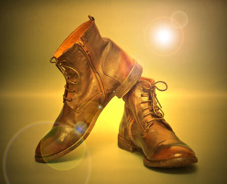 beautiful fashion leather vintage boots