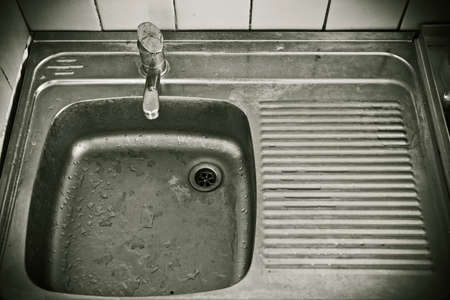 Sink in the kitchen of economy class