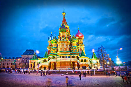 Basils Cathedral in Moscow, Russia Stock Photo