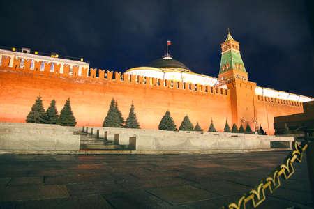 Mauer des Kreml. Russland, dem Roten Platz