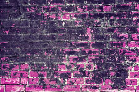 conceptual design brick wall black and pink