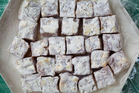 eastward: Oriental sweets - Turkish delight candy. Sweets of rahat loachum