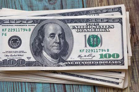 American dollars. Lot of money 100 dollar bills
