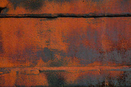 Background, texture, empty space for design. Rough, rough surface. Rusted metal surface closeup. Place for text Stock Photo