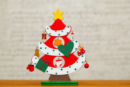 Decorative Christmas tree. Free space for text