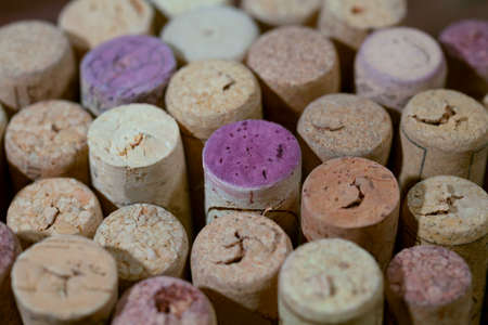 wine corks. Background of corks from bottles Stock Photo
