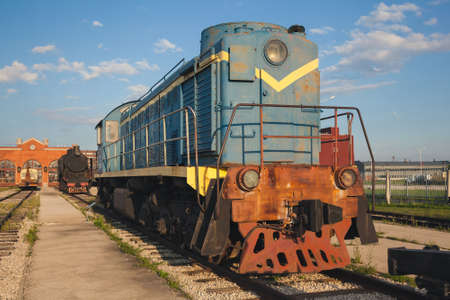 The old steam locomotive of times of the USSR