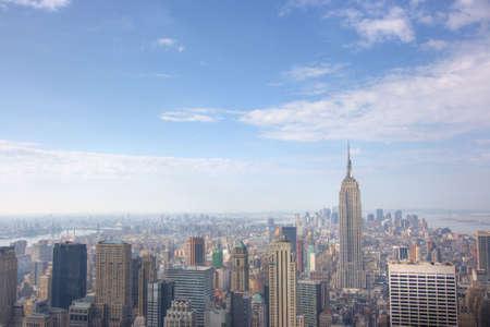 ny: Manhattan Skyline from atop 30 Rockefeller center, New York City, NY