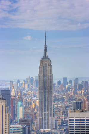 Manhattan Skyline from atop 30 Rockefeller center, New York City, NY