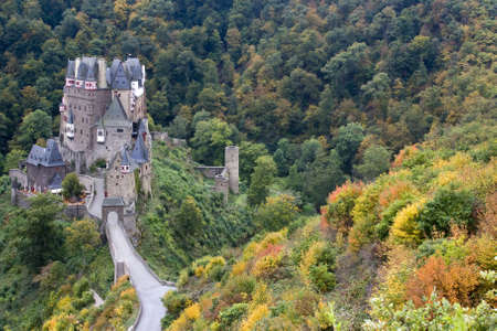 burg: Ancient Burg Eltz Castle in the Autumn in Germany Editorial
