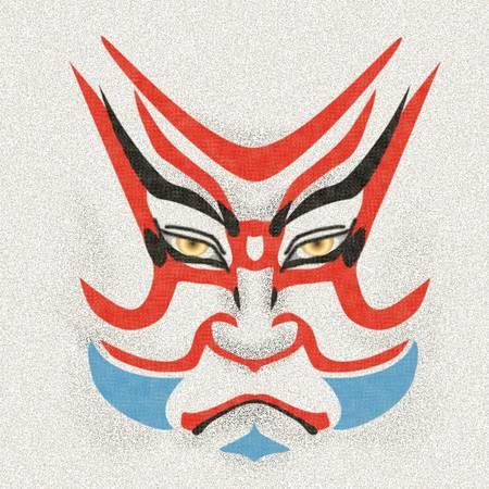 KABUKI s kumadori of Benkei