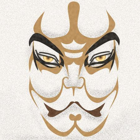 kabuki: KABUKI s kumadori of Tsuchigumo Illustration