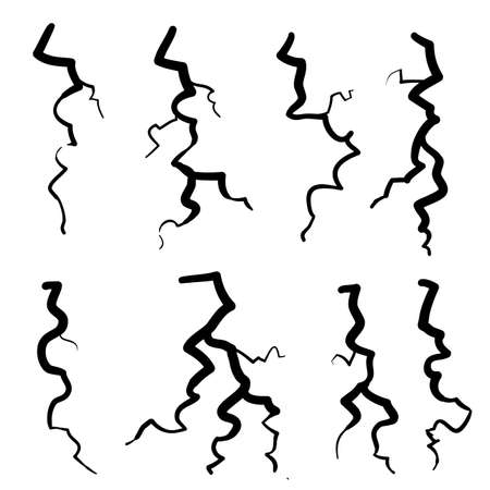 thunderstorm illustration in doodle cartoon style