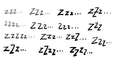 zzz doodle illustration symbol for sleep cartoon vector