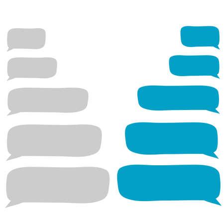 doodle Message bubbles chat vector illustration