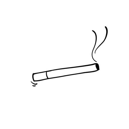 cigarette icon,smoke illustration handdrawn doodle style