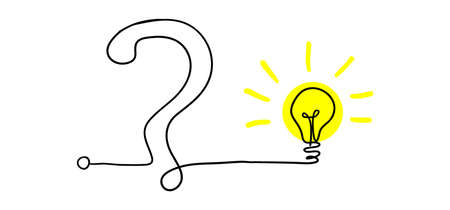 Simplifying the complex, confusion clarity or path. vector idea concept with lightbulbs doodle illustration Vettoriali