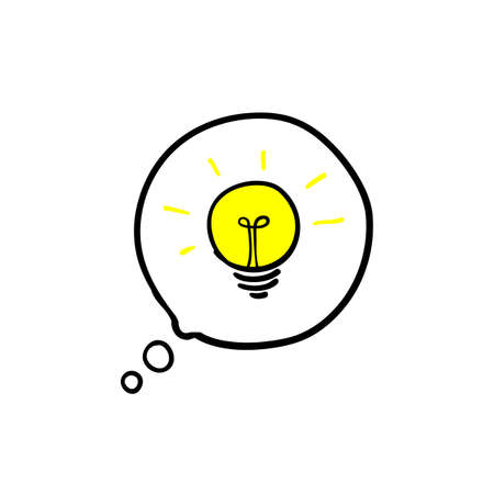 Simplifying the complex, confusion clarity or path. vector idea concept with lightbulbs doodle illustration Archivio Fotografico - 139114705