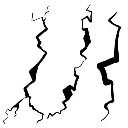 vetro rotto disegnato a mano, muro, uovo, macinato in un'illustrazione vettoriale di stile scarabocchio del fumetto cartoon