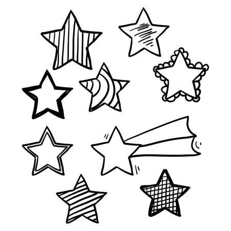 illustration étoile doodle avec vecteur de style dessiné à la main