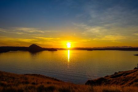 The Golden Sunrise in Padar Island Indonesia