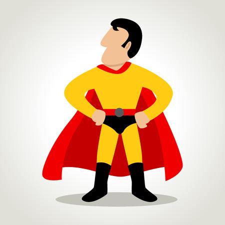 Simple cartoon of a superhero 向量圖像