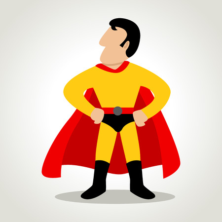 Simple cartoon of a superhero Illustration