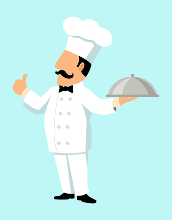 compliment: Simple cartoon of a chef