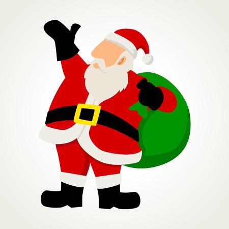 Simple cartoon of Santa Claus Vector