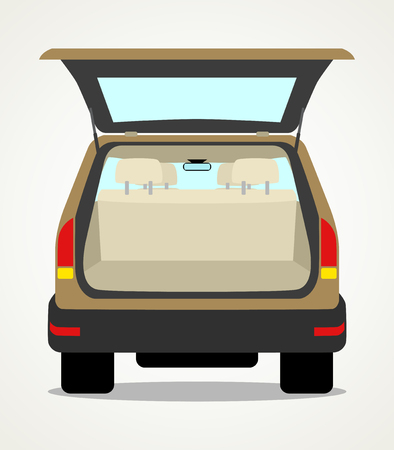 Simple cartoon of an empty car baggage
