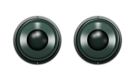 speakers isolated on a white background Stock Photo - 5617390