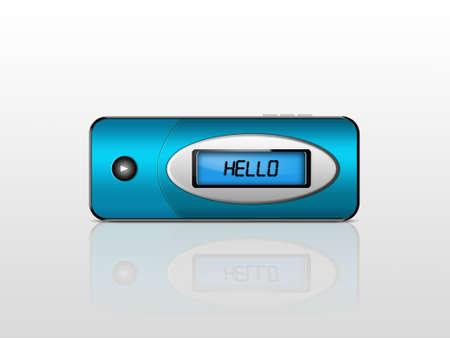 megabytes: blue mp3 player