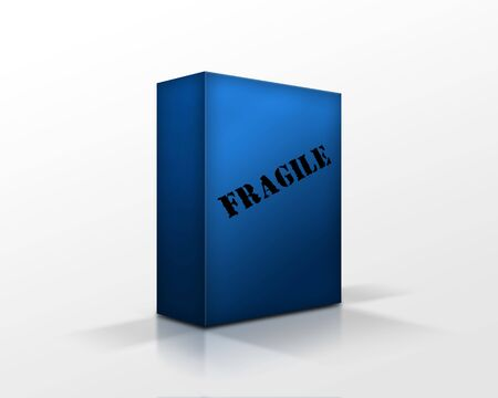 blue box with a fragile content photo