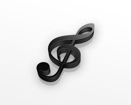 violinschl�ssel: Schwarze Violinschl�ssel