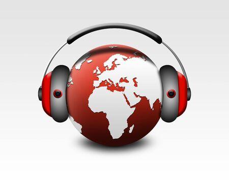 musical world globe photo