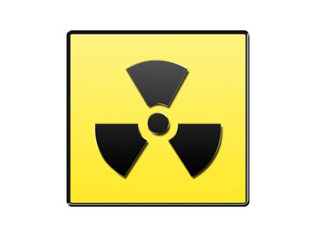 radioactive sign isolated on white Stock Photo - 5647647