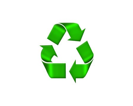 recycle symbol isolated on white Stock Photo - 5695852