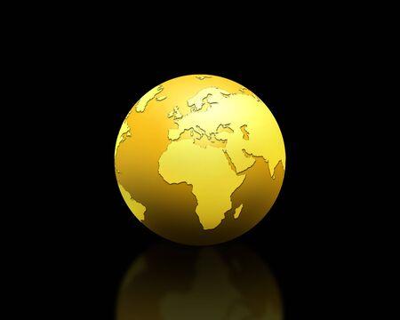 golden world globe Stock Photo - 5793515