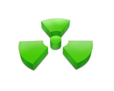 3d radioactive symbol Stock Photo - 5793511