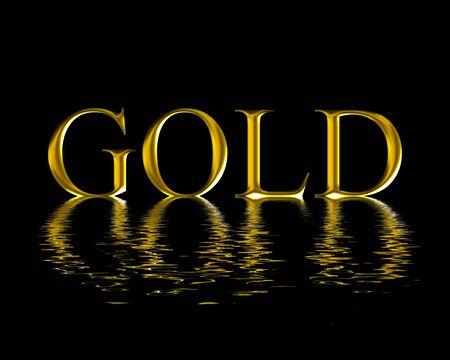 liquid material: gold