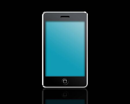 mobile phone on a black background