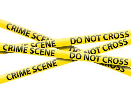 investigacion: cinta de escena de crimen Foto de archivo