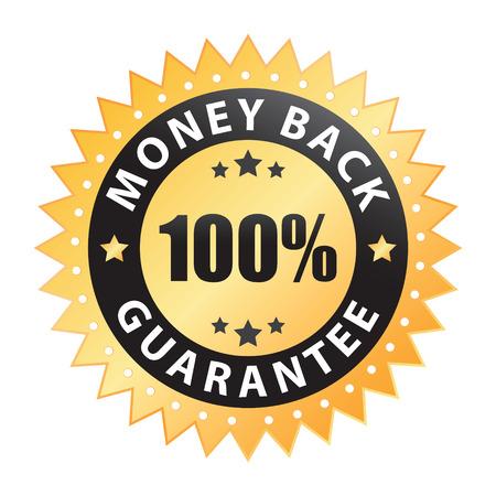 100% geld terug garantie label