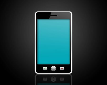 mobile phone on a black background Stock Photo - 6207270