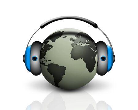 musical world globe Stock Photo - 6207271